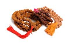 Rosario indio tradicional para la meditación - mala Fotos de archivo libres de regalías