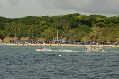 Rosario Islands è un arcipelago che comprende 27 isole situate circa due ore in barca da Cartagine de Indias, Colombia. Fotografia Stock