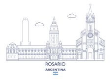 Rosario City Skyline, Argentina Royalty Free Stock Images