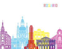 Rosario skyline pop Royalty Free Stock Photography