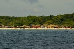 Rosario wyspy są archipelagiem zawierający 27 wysp lokalizować wokoło dwa godziny łodzią od Cartagena De Indias, Kolumbia. Zdjęcie Royalty Free
