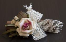Rosarosenporzellan Stockbild
