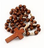 rosary λευκό Στοκ Εικόνες