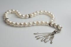 rosary μαργαριταριών χαντρών στοκ εικόνα με δικαίωμα ελεύθερης χρήσης