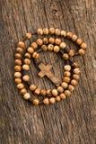 rosary χαντρών ξύλινο Στοκ φωτογραφία με δικαίωμα ελεύθερης χρήσης