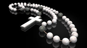 rosary χαντρών πέτρα Στοκ Εικόνες