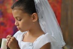 rosary ребенка свечки шариков Стоковое фото RF