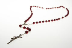 Rosary. Isolated over white background Stock Photos