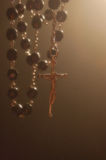 Rosary Backlighting Mystical royalty free stock photos