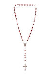 Rosary beads. Isolated over a white background stock images