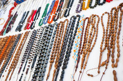 Rosary Beads. Many colorful rosary beads sold in a Turkish bazaar Stock Photos