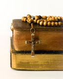 Rosary beads and breviary. The book of Catholic Church liturgy and rosary beads Stock Photography