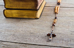 Rosary beads and breviary Royalty Free Stock Images