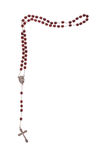Rosary beads isolated on white Royalty Free Stock Photos