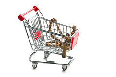 Rosary beads in shopping cart Stock Photos