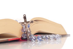 Rosary and Bible Royalty Free Stock Photography