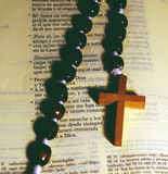 Rosary and Bible Royalty Free Stock Photos