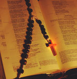 Rosary and Bible Royalty Free Stock Images