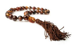 Rosary of carnelian beads Stock Photography