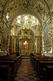 The rosary chapel. Inside saint domingo church the rosary chapel in Puebla shows the splendor of baroque, the rosary chapel is a brilliant achievement of mexican Royalty Free Stock Image