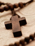 Rosary cross Stock Photography