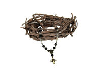 Rosary and crown of thorns Stock Images