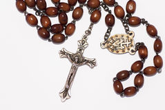 Rosary isolated over white background Stock Photo