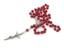 A rosary isolated in white Stock Photography