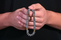 Rosary from metal Royalty Free Stock Photo