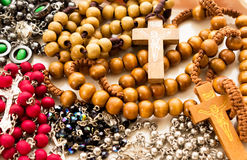 Rosary Necklace Variants Royalty Free Stock Images