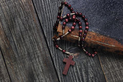 Rosary and old book Royalty Free Stock Image