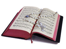 Rosary and Prayer Book Stock Image