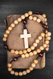 Rosary and prayer book Royalty Free Stock Photography