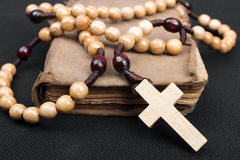 Rosary and prayer book Royalty Free Stock Image