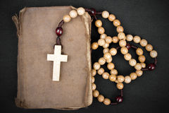 Rosary and prayer book Royalty Free Stock Photo