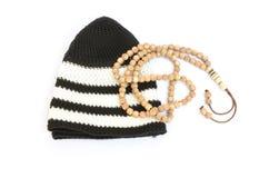 Rosary and prayer cap Royalty Free Stock Photography