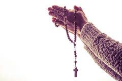 The Rosary Prayer Stock Photo