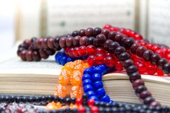 Rosary and Qoran Stock Image