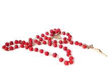 Rosary with Red Beads Royalty Free Stock Photography