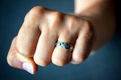 Rosary ring Royalty Free Stock Image
