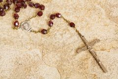 Rosary on stone Royalty Free Stock Image