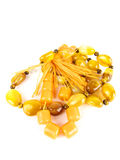 Rosary amber beads Stock Photos