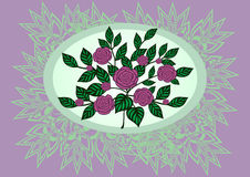 Rosas abstratas com fundo Foto de Stock