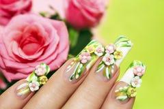 Rosas acrílicas. imagens de stock