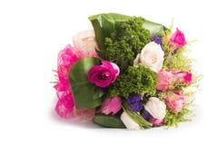 Rosas aisladas en el fondo blanco Fotos de archivo libres de regalías