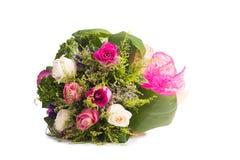 Rosas aisladas en el fondo blanco Imagen de archivo