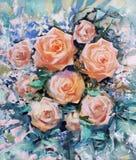 Rosas alaranjadas bonitas Foto de Stock Royalty Free