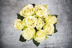 Rosas amarelas brilhantes Foto de Stock Royalty Free