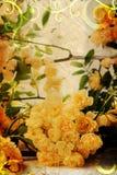 Rosas amarelas do vintage Imagens de Stock Royalty Free