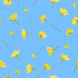 Rosas amarelas sem emenda fotos de stock royalty free